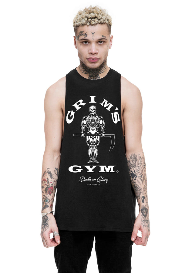 Grims Gym Raw Edge Tank / Black