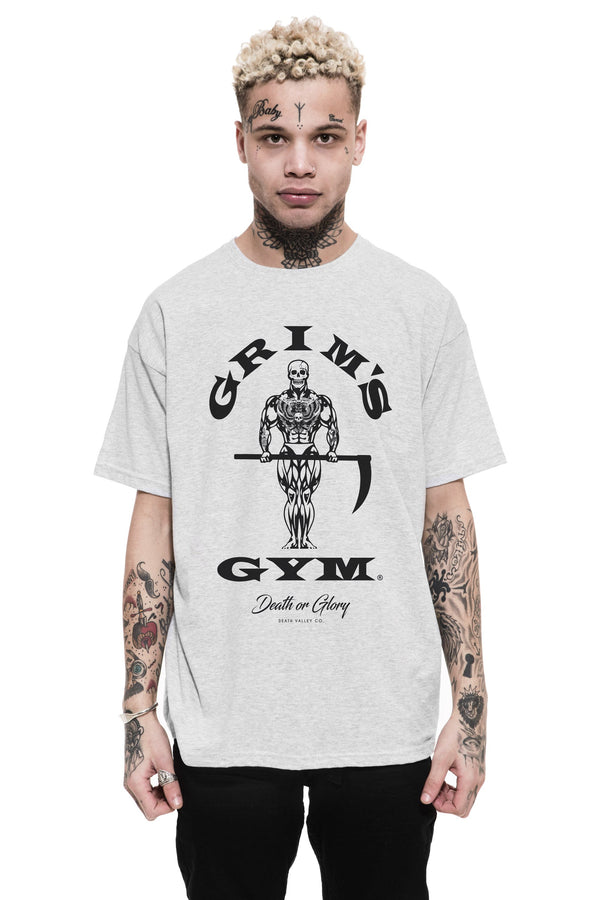 Grims Gym Tee / Heather Grey
