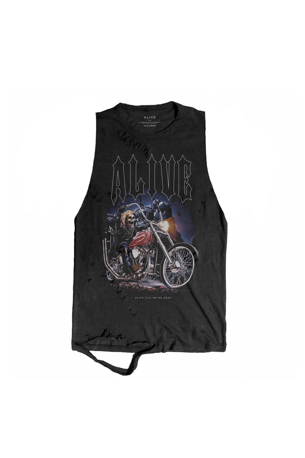 Ghost Rider Tank - Alive Denim, Rock n Roll Denim, Contemporary Denim Brand, Alive Denim Jeans Denim Jackets, Vintage T-Shirts and Vintage Hoodies
