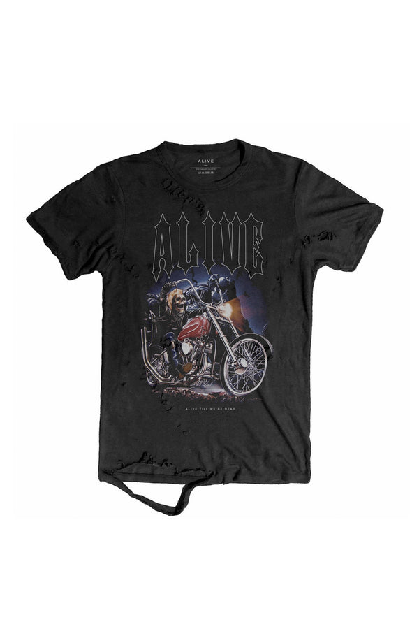 Ghost Rider Tee - Alive Denim, Rock n Roll Denim, Contemporary Denim Brand, Alive Denim Jeans Denim Jackets, Vintage T-Shirts and Vintage Hoodies
