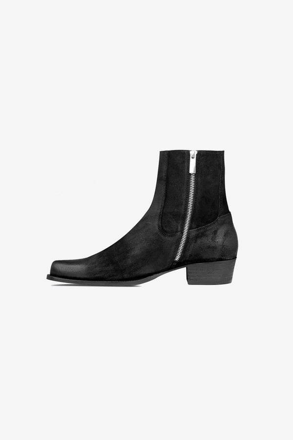 Western Boot | Oil Black