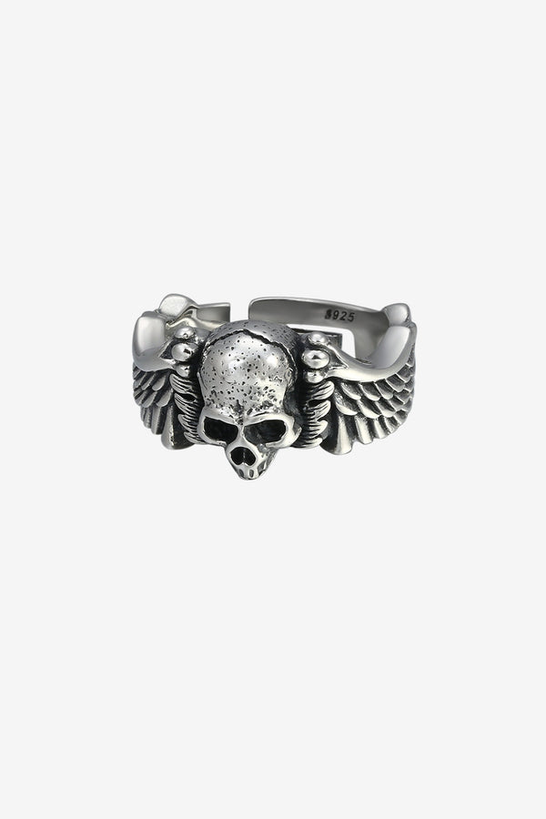 .925 Death Head Skull Ring