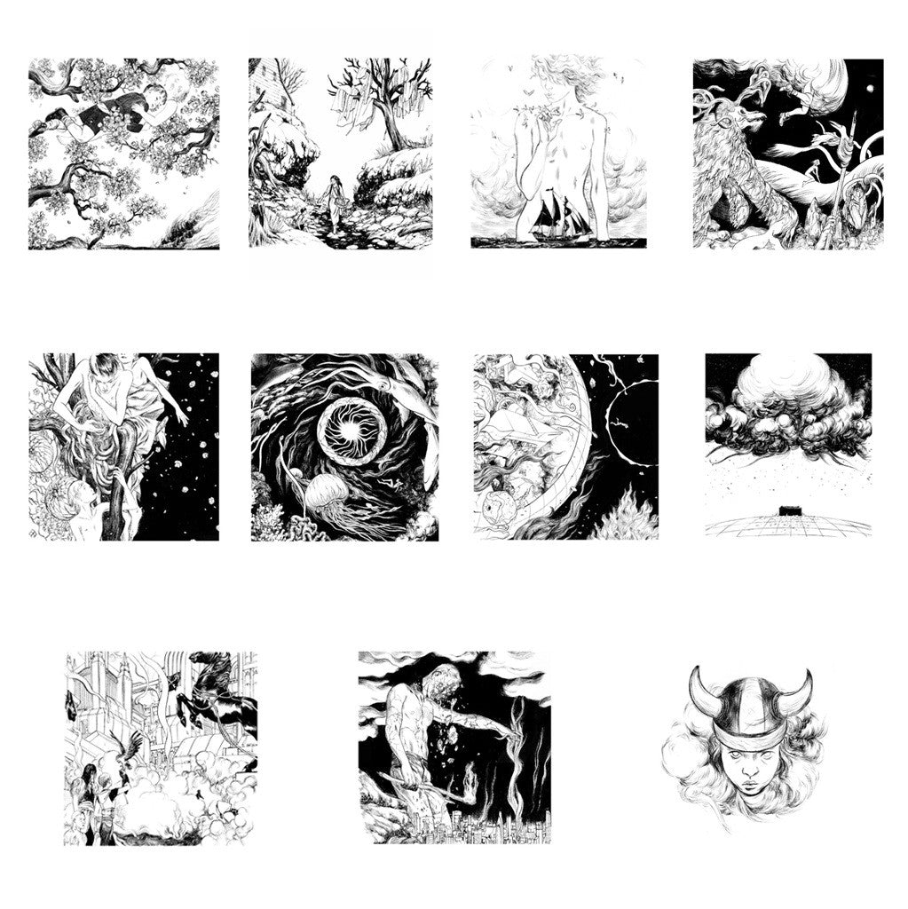 "WOODKID ""THE GOLDEN AGE"" ORIGINAL ART PRINT - LARGE SIZE"