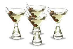 Flask Base Martini Glasses