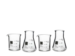 Laboratory Shot Glass Set : UK & Europe