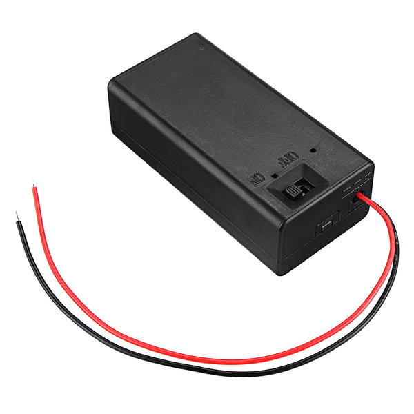 9v Battery Holder with Switch - 4 Pack