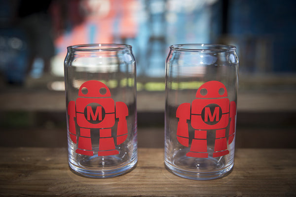 Maker Faire Robot 16 oz Glass