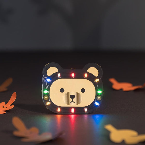 Sewable LED Bear Badge