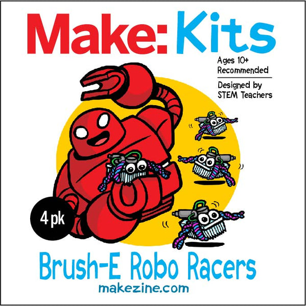 Brush-E Robo Racers - 4 Pack