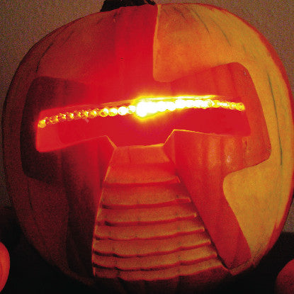 Devilish Decorations: Cylon Jack-O'-Lantern (PDF)