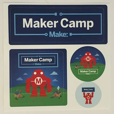 Maker Camp Stickers - Pack of 15 Sheets