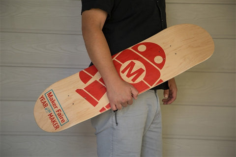 Maker Faire Robot Skateboard Deck
