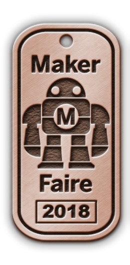 Maker Faire 2018 Dog Tags