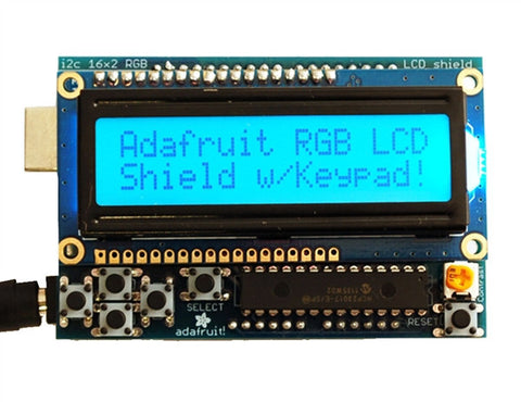 Adafruit Positive Rgb Lcd Shield Kit w/ 16x2 Character Display