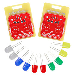 Robot Blinky Badge 2-Pack - Beginner Soldering Kit