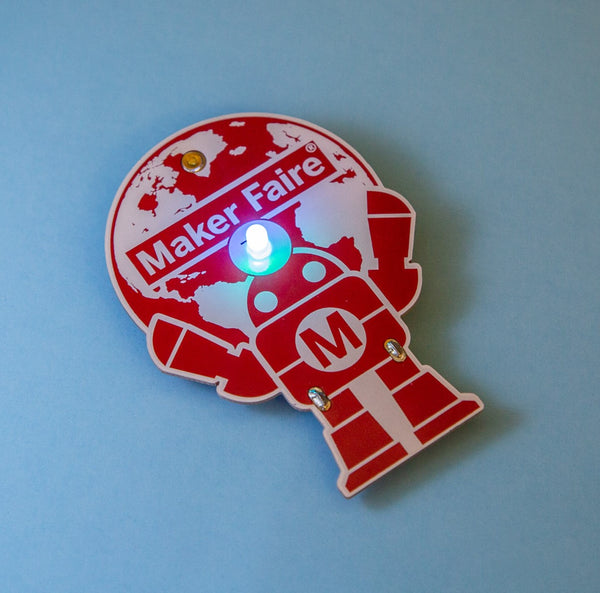 New! Makey Robot - Learn to Solder Skill Badge Kit - Pack of 5
