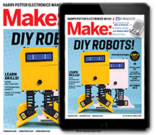 Make: Magazine latest magazine cover, subscribe here