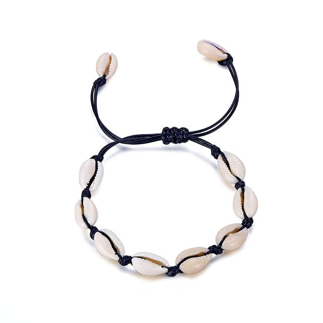 Gold Color Cowrie Shell Bracelets for Women