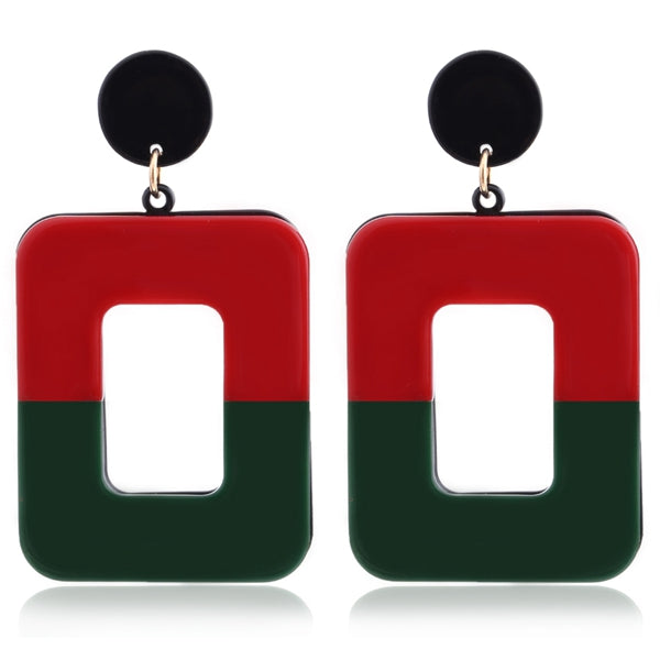 Color Block Earrings for Women