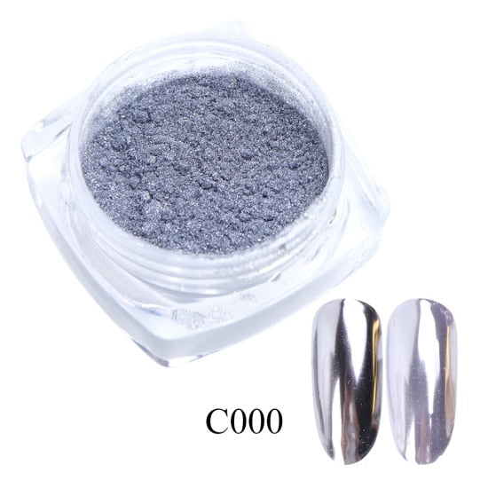 Mirror Glitter Powder Metallic Nails - 0.5g
