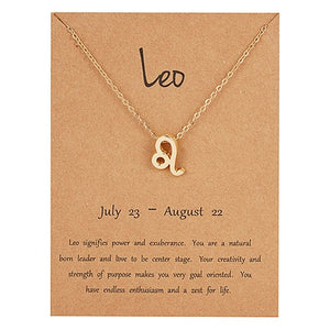 Elegant Star Zodiac Sign 12 Constellation Pendant Necklaces 2019