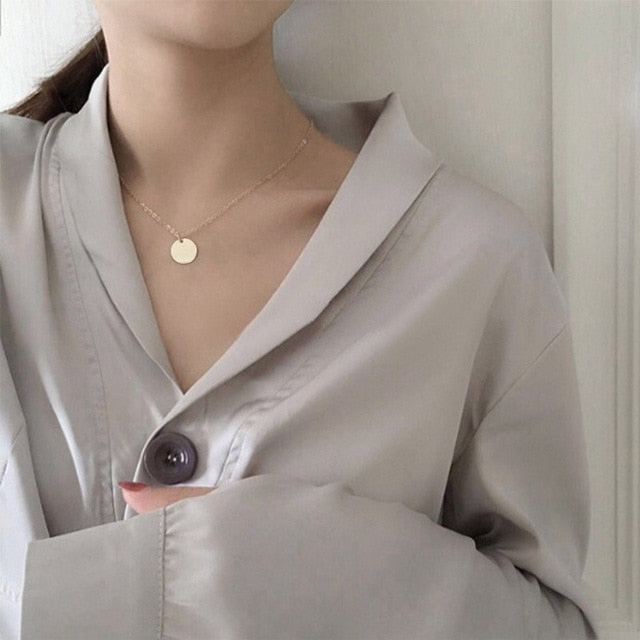 Choker Necklace For Women's - Link Chain Pendant Fashion 2019