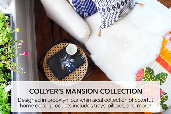 Collyer's Mansion collection of whimsical home products