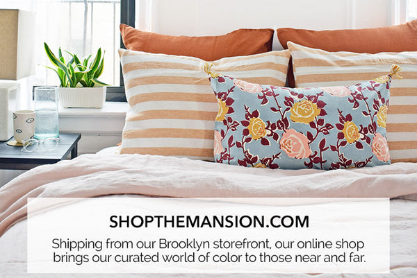 Online store for colorful home decor at Collyer's Mansion in Brooklyn