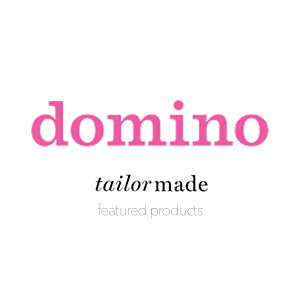 Domino Logo and article about Collyer's Mansion being perfect for colorful home decor