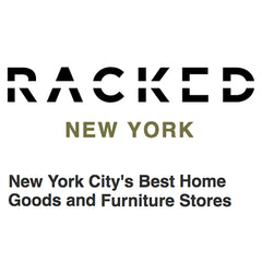 Racked Logo and article about Collyer's Mansion being perfect for colorful home decor