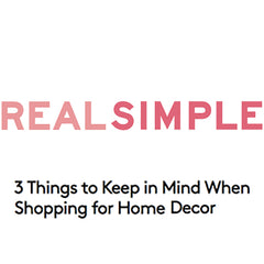 Real Simple Logo and article about Collyer's Mansion being perfect for colorful home decor