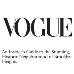 Vogue Logo and article about Collyer's Mansion being perfect Brooklyn boutique