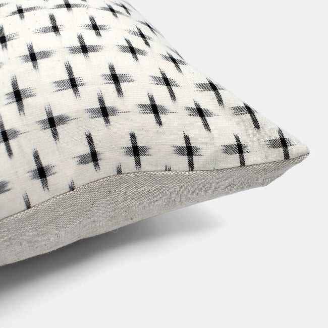 Black T Check Pillow, lumbar