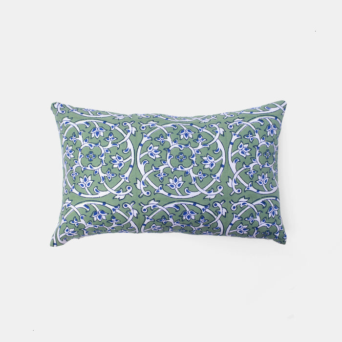 Tiles Green Filigree Pillow, lumbar