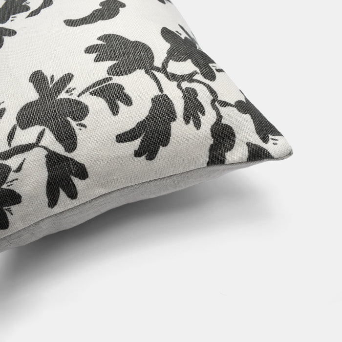 Charcoal Vine Pillow, lumbar