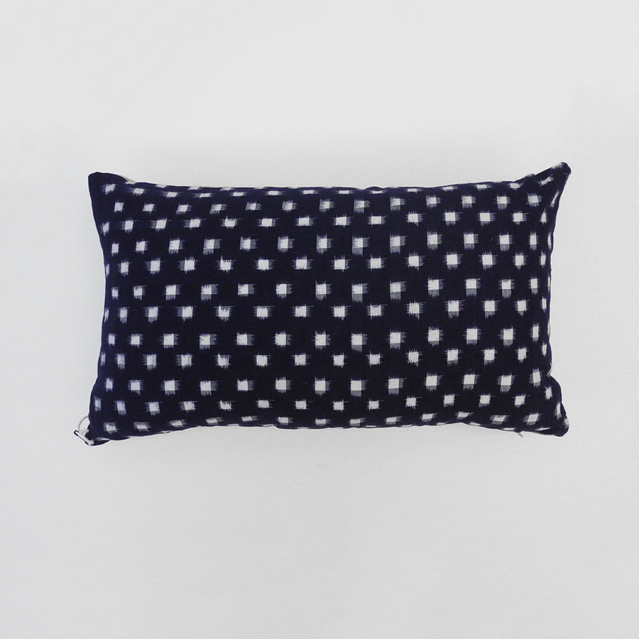 Indigo Check Pillow, lumbar, Pillow, Collyer's Mansion, Collyer's Mansion - Collyer's Mansion
