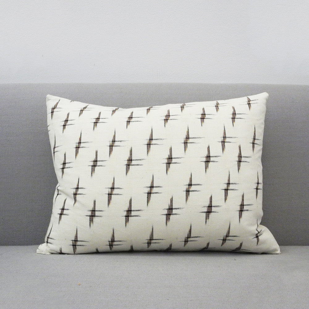 Crosshatch Ikat Pillow, lumbar