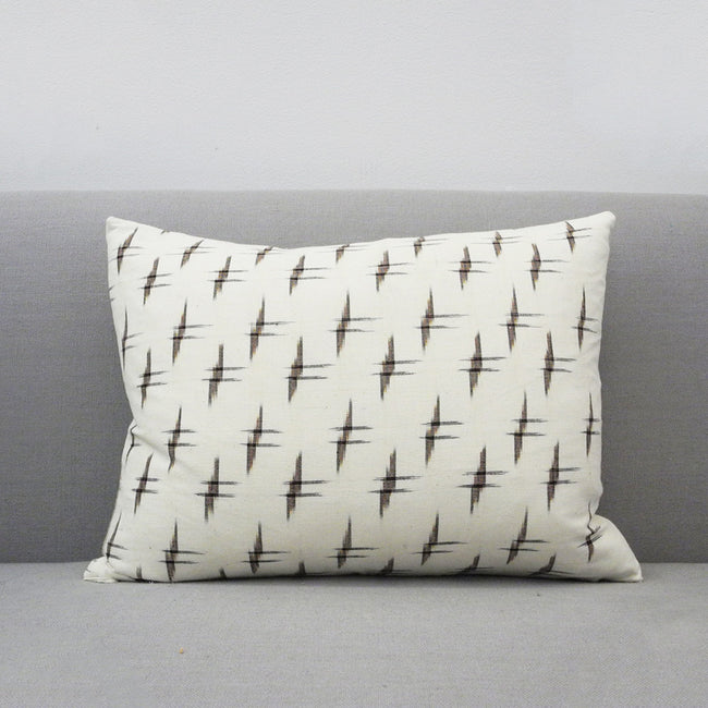 Crosshatch Ikat Pillow, lumbar, Pillow, Collyer's Mansion, Collyer's Mansion - Collyer's Mansion