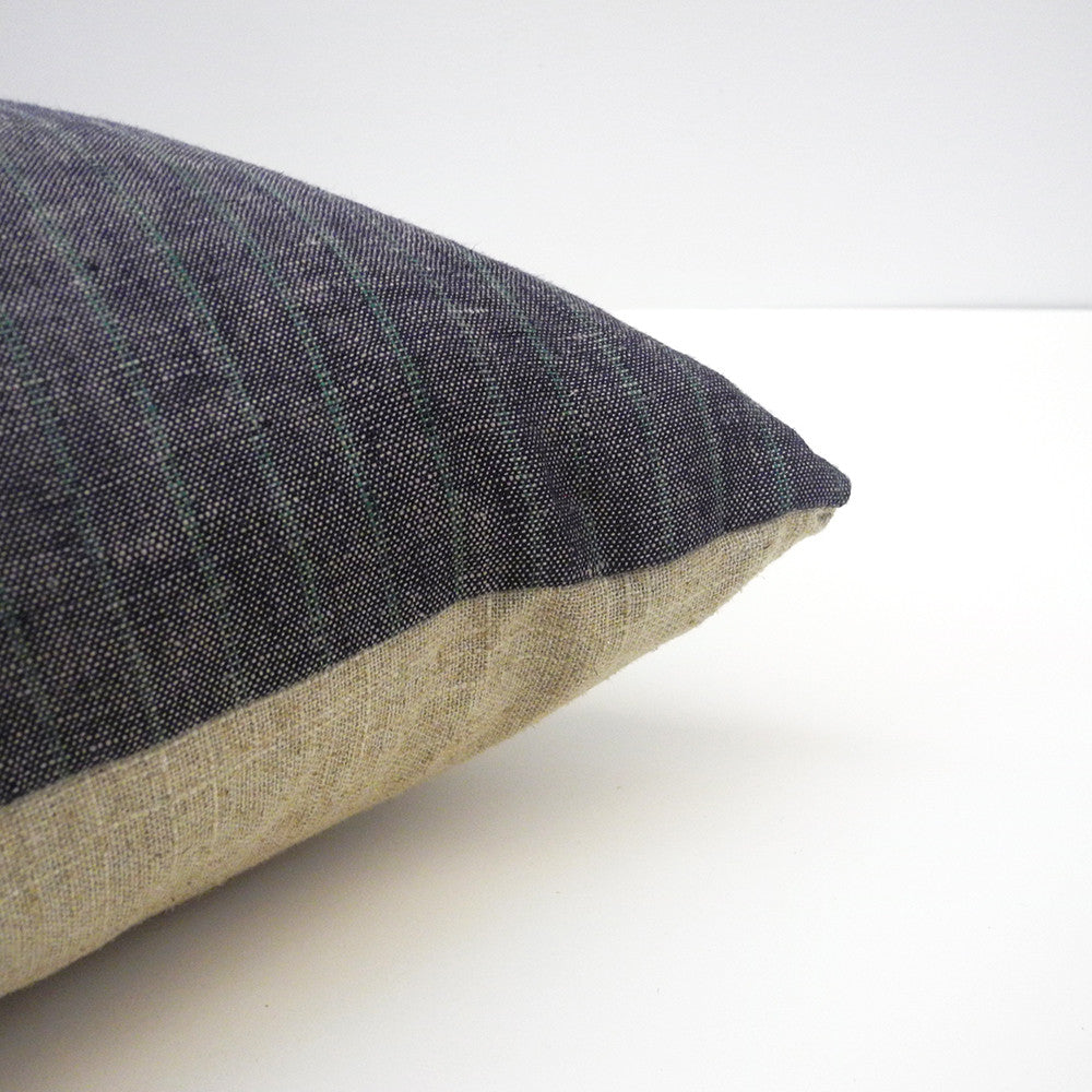 Green Stripe Pillow, lumbar