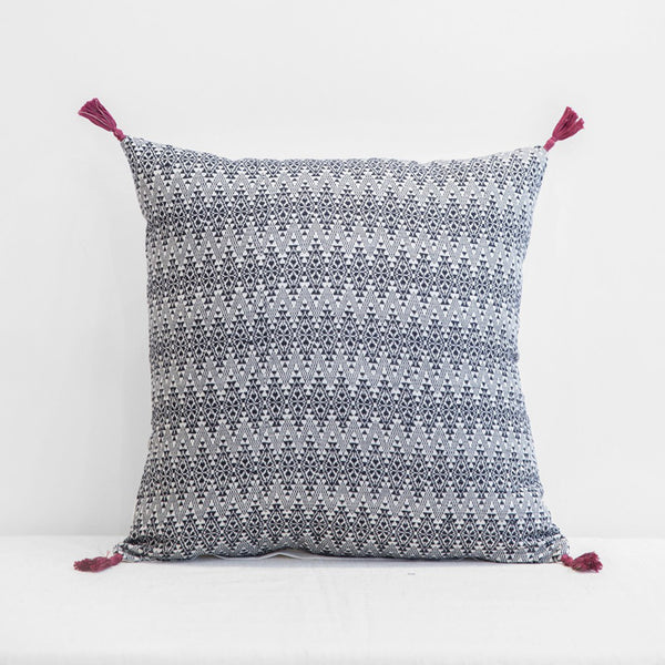 Adele Charcoal Pillow, square