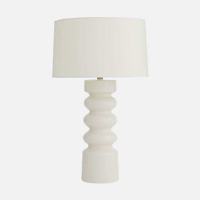 White Crackle Wheaton Lamp