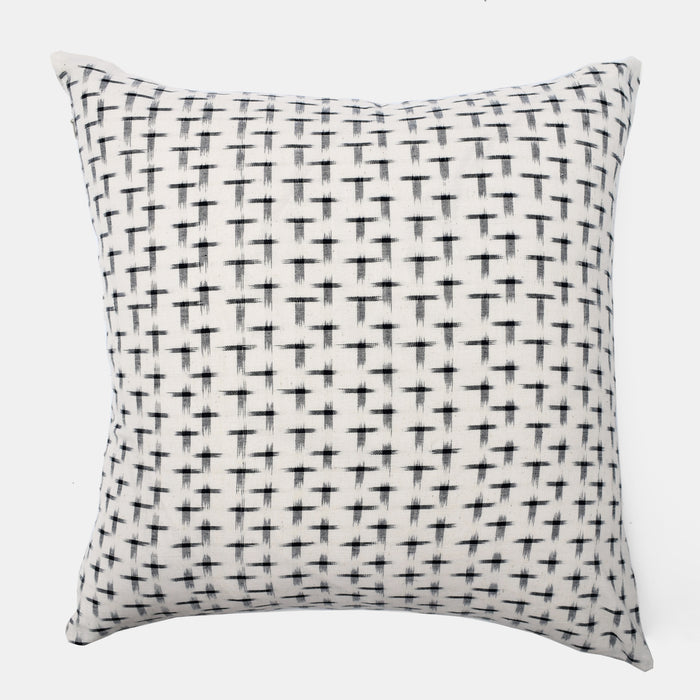 Black T Check Pillow, square