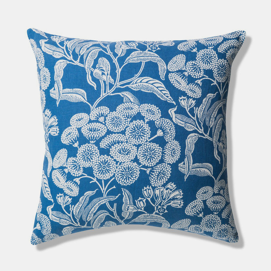 Angophora Blue Pillow, square