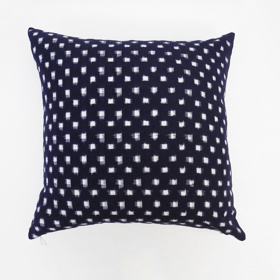 Indigo Check Pillow, square, Pillow, Collyer's Mansion, Collyer's Mansion - Collyer's Mansion