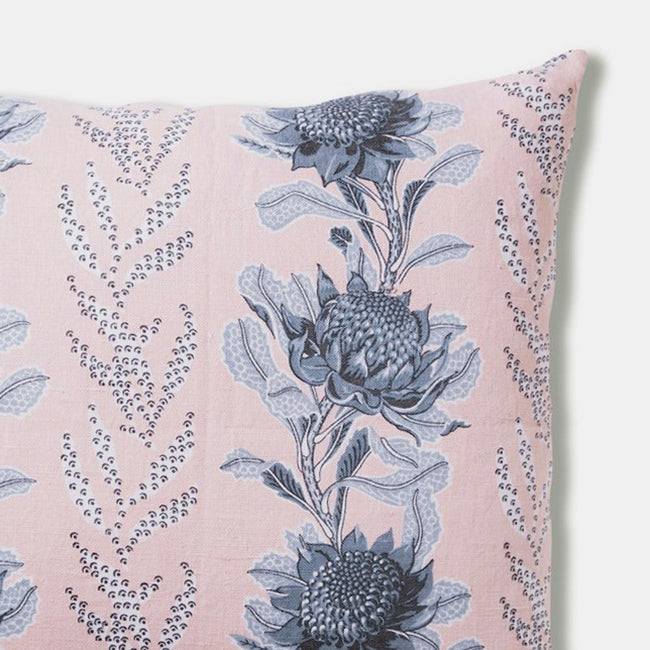 Imperial Waratah Pink Pillow, square