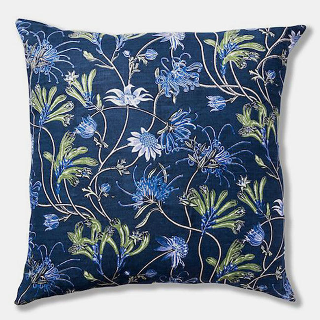 Native Meadow Blue Pillow, square
