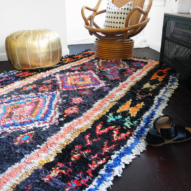 "Boucherouite Rug, 4'11"" x 7'10"", Rug, Le Nouvel Atlas, Collyer's Mansion - Collyer's Mansion"