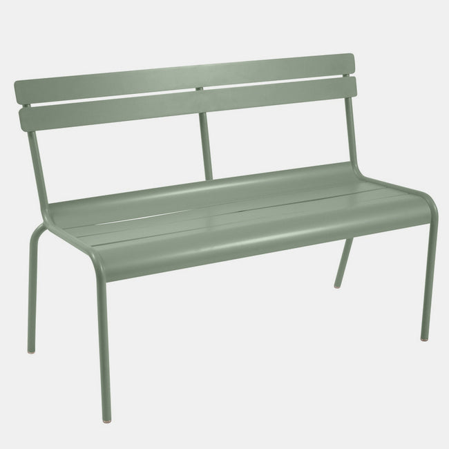 2/3 Person Luxembourg Bench with Back