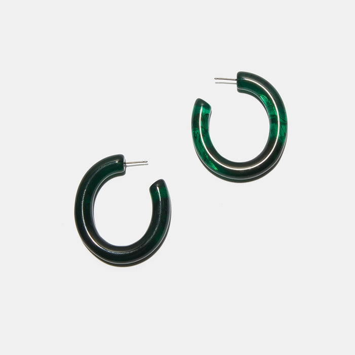 Rome Hoop Earrings in Sea Green
