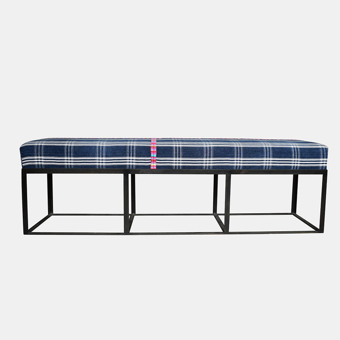 "60"" Cruz Bench in Guatemalan Textile"